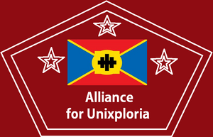 Our current Government is led by Alliance for Unixploria (AU).