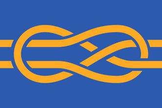 The flag of the International Federation of Vexillological Associations.